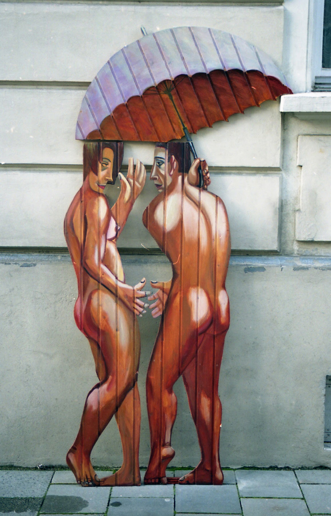 zwei mit regenschirm2001